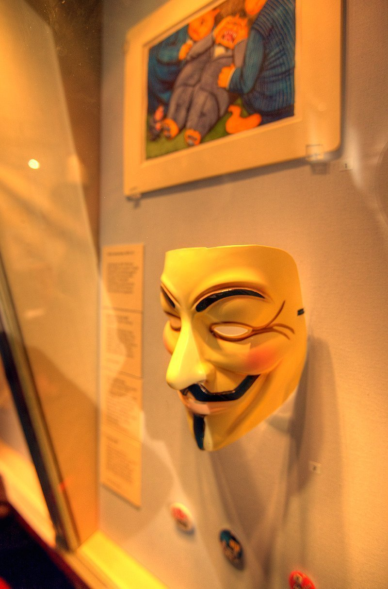 Did not expect to see The Guy Fawkes mask on exhibit