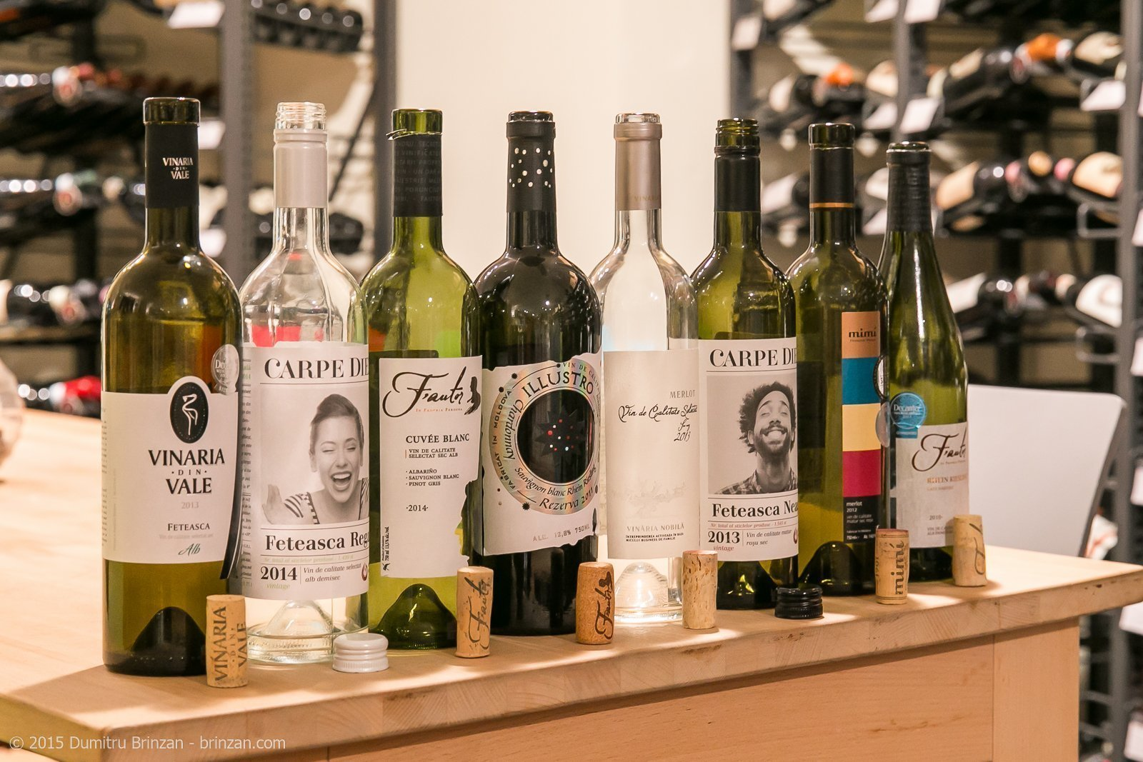 8 Empty Bottles of Moldovan Wine at Vinarium Weinadvokat in Dortmund