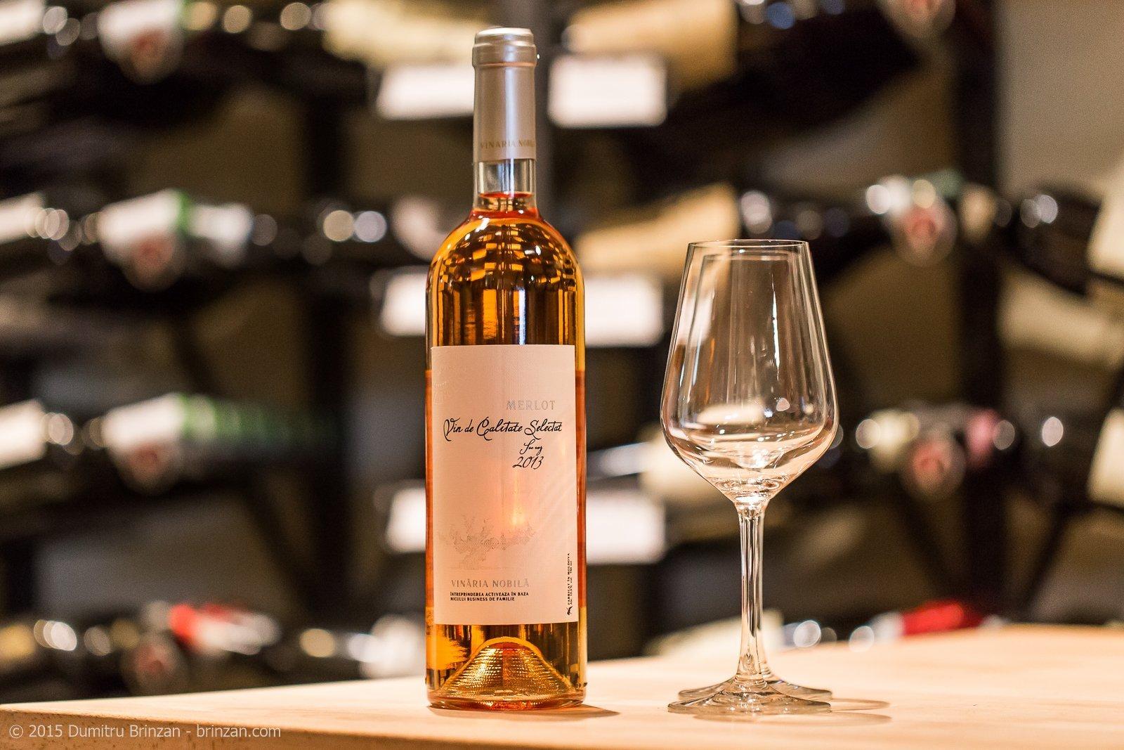 A bottle of Vinaria Nobila Rose Merlot 2012