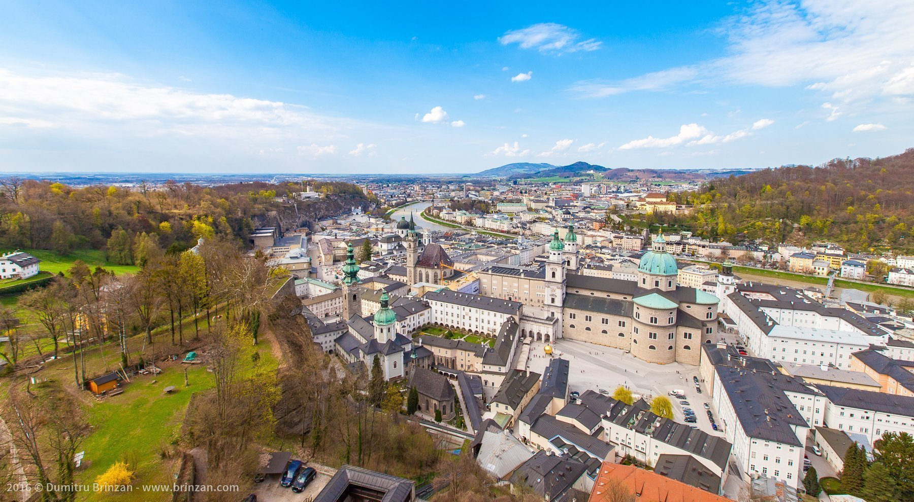 View from the top of Hohensalzburg Fortress