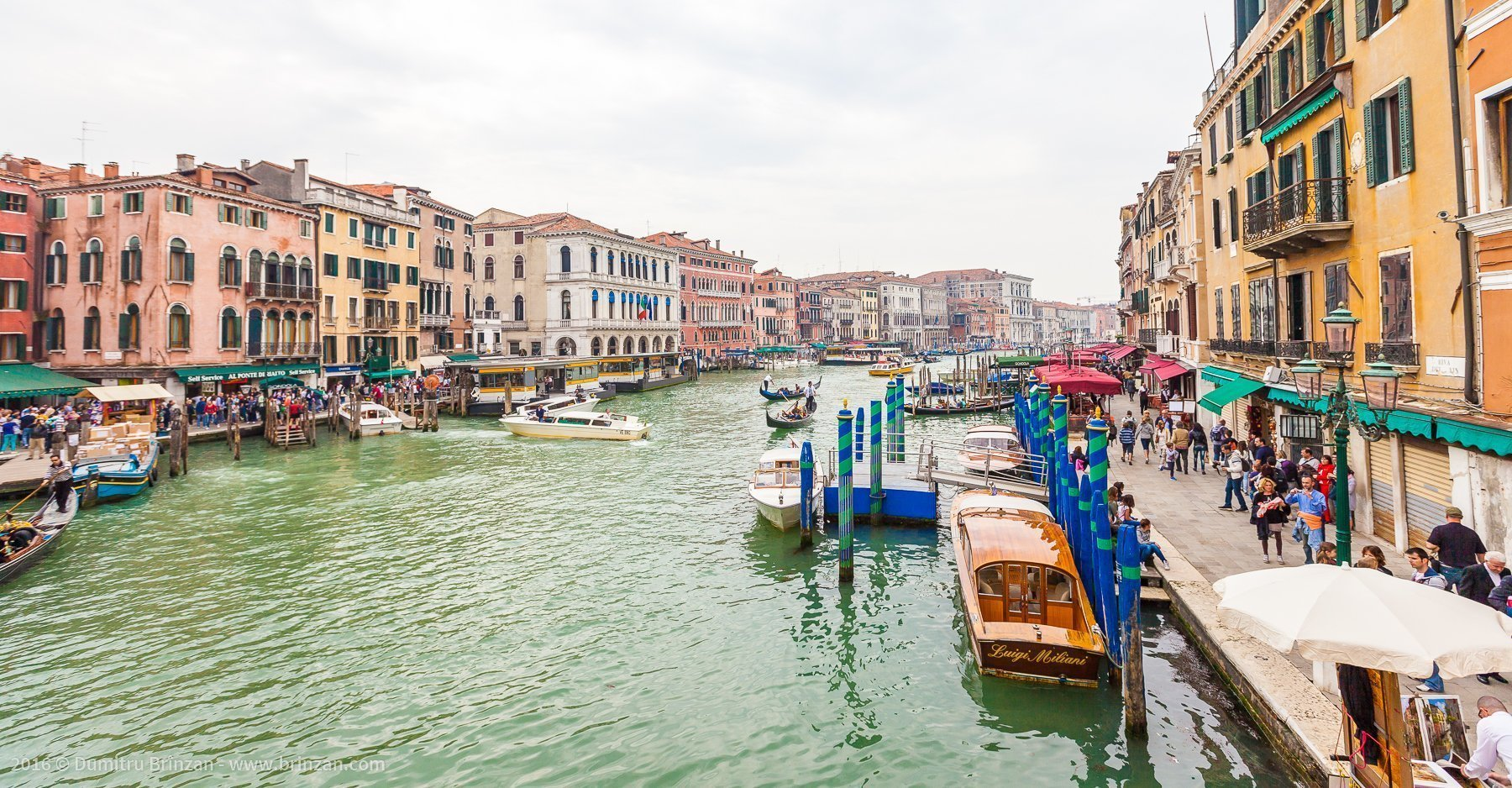Most streets in Venice are narrow and crowded with tourists.