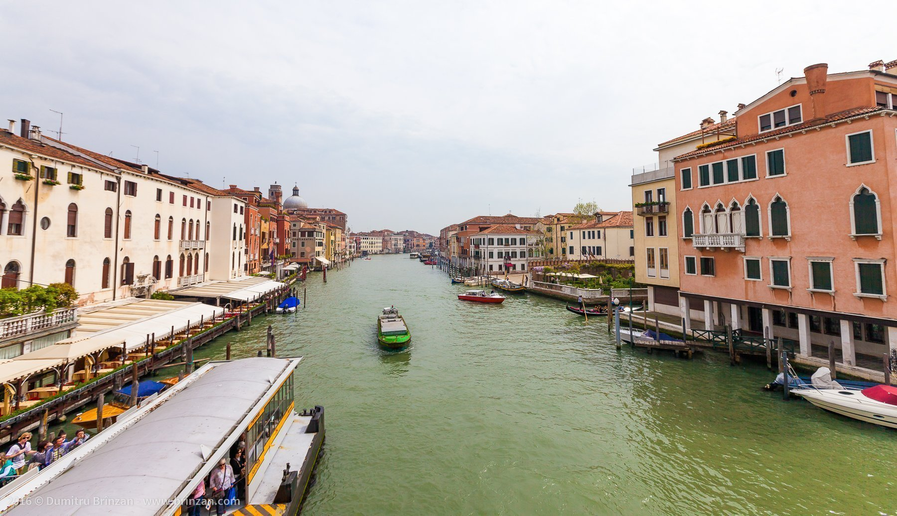 The water in Venice is green. This makes it feel dirtier than it is.