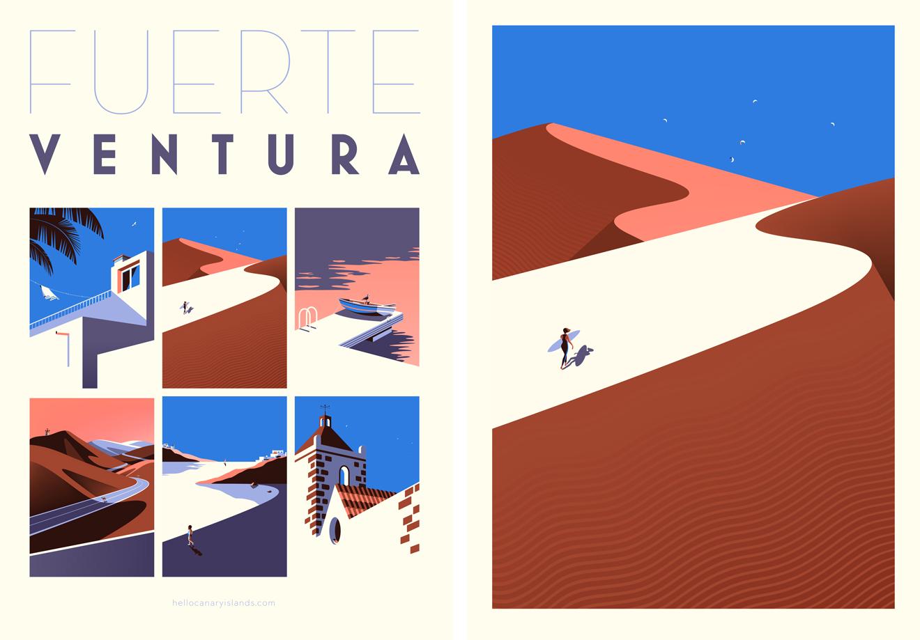 Illustration of Fuerteventura by Malika Favre
