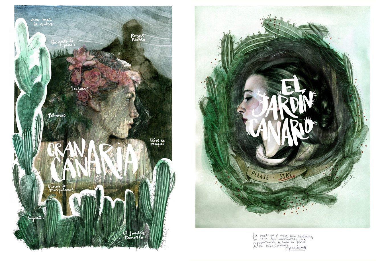 Illustration of Gran Canaria by Paula Bonet
